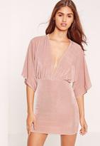 Missguided Petite Slinky Mini Dress Pink