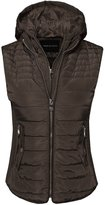 Made by Emma Solid Basic Quilted Vest W/ Side Rib Panel Details Snow White L