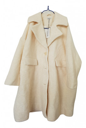 Ganni Fall Winter 2019 Ecru Wool Coats