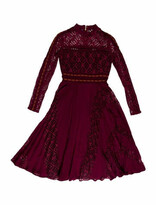 Thumbnail for your product : Self-Portrait Lace Pattern Midi Length Dress