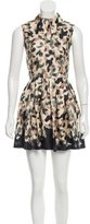 Opening Ceremony Camouflage Silk Dress