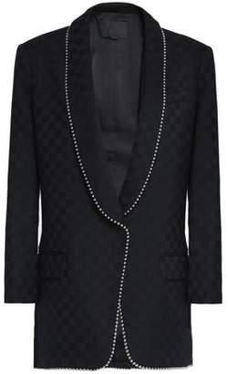 Alexander Wang Embellished Wool-jacquard Blazer