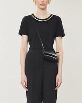 Claudie Pierlot Tanto embellished neckline cotton-blend T-shirt