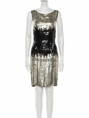 Naeem Khan Silk Knee-Length Dress w/ Tags Black