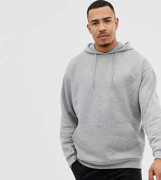 Asos Design DESIGN Tall oversized hoodie in gray marl
