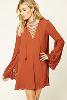 Forever 21 FOREVER 21+ Contemporary Bell-Sleeve Dress