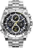 Bulova Mens Precisionist Chronograph Silver-Tone Watch 96B175