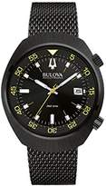 Bulova Accutron II Men's Quartz Watch with Black Dial Analogue Display and Black Stainless Steel Bracelet 98B247