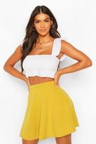 boohoo Roseanna Colour Pop Skater Skirt lime