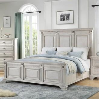 Solid Wood Platform Standard Bed Roundhill Furniture Size: King, Color: Vintage Black