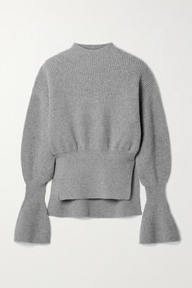Alexander Wang Ribbed Wool-blend Sweater - Gray