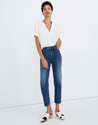 Madewell Mid-Rise Classic Straight Jeans in Carsondale Wash