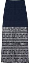 Richard Nicoll Embroidered Cotton-Tulle Maxi Skirt