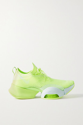 Nike Air Zoom Superrep Neoprene And Mesh Sneakers - Chartreuse