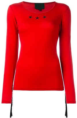 Jean Paul Gaultier Pre Owned Star Fringed Top