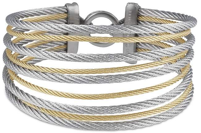Alor Gray & Yellow Stacked Cable Bangle