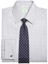 Brooks Brothers Regent Fit Heathered Gingham French Cuff Dress Shirt