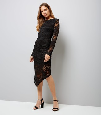 New Look Mela Lace Long Sleeve Midi Dress