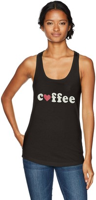 Chin Up Chin-Up Women's Coffee Heart Ideal Racerback Graphic Tank Top