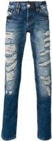 Philipp Plein light-wash distressed jeans