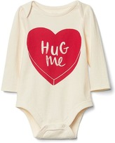 Gap Candy heart long sleeve bodysuit