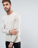 French Connection Crew Neck Knitted Sweater with Contrast Sleeve
