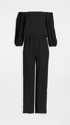 Theory Off Shoulder Jumpsuit
