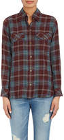 Current/Elliott WOMEN'S PLAID FLANNEL SHIRT