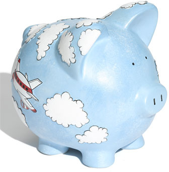 Gift Giant 'Airplane - Large' Ceramic Piggy Bank