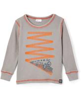 Nano Gray & Orange Train Thermal Tee - Infant & Boys
