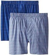 Hanes Men's Full Pima Cotton Check Boxer (Pack of 2)