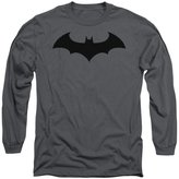 Batman DC Comics Hush Logo with Black Adult Long Sleeve T-Shirt Tee