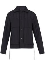 Craig Green Tie-waist quilted wool jacket