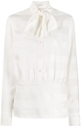 Victoria Victoria Beckham pussy-bow striped shirt