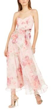 Brinker & Eliza Petite Floral-Print Wide-Leg Jumpsuit