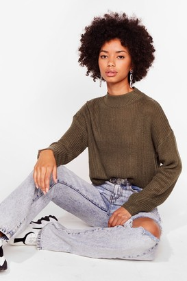 Nasty Gal Womens Had Knit Good Crew Neck jumper - Green - S