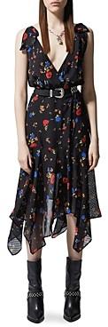 The Kooples Daydream Flowers Silk Wrap Dress