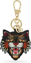 Gucci Beige Luxury Angry Cat Gg Supreme Canvas Keyring