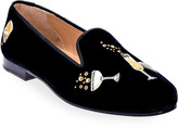 N. Stubbs And Wootton Celebrate Embroidered Velvet Smoking Loafers