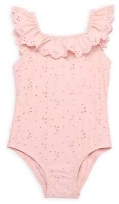 Little Me Baby Girl's Eyelet 1-Piece Swimsuit