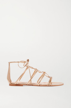 Gianvito Rossi Metallic Leather Sandals - Gold
