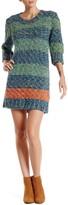 Love Moschino Thick Knit Wool Blend Sweater Dress