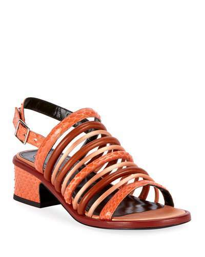 Dries Van Noten Caged Strappy Chunky Sandals