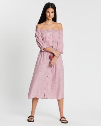 Whistles Simma Stripe Bardot Dress