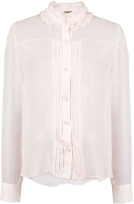 Adam Lippes Pleated Front Blouse