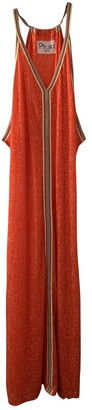 Pitusa Orange Cotton Dress for Women