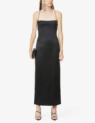 Magda Butrym Silk and wool-blend maxi dress