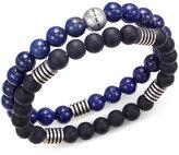 Steve Madden Men's 2-Pc. Stainless Steel Stretch Bead Bracelet Set