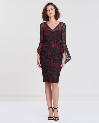 Montique Lexi Embroidered Lace Dress