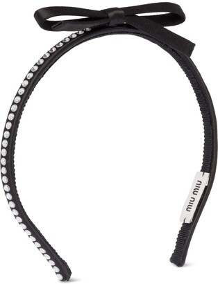 Miu Miu Crystal-Embelished Headband